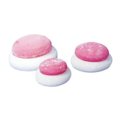 お鏡餅 樹脂製 紅白 小(一升重ね) 底巾17cm
