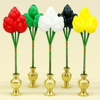 五瓶華(五瓶花) 紙製(五本一組) 小型