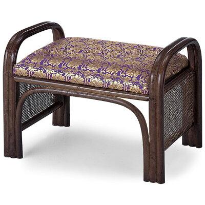 仏前金襴座椅子(籐製) 紫金襴