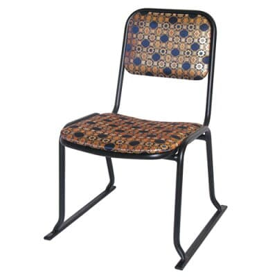 本堂用お詣り椅子(金襴) AL-350K(アルミ製)