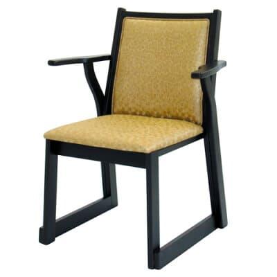 両肘付レザー椅子 AR-602(木製)