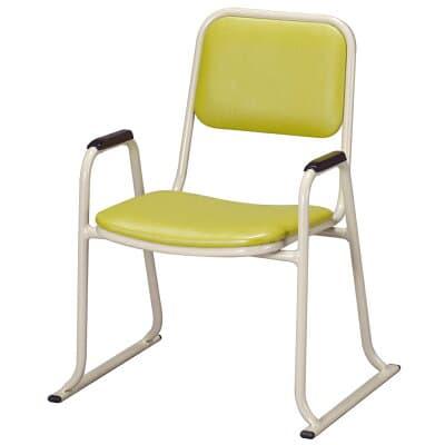 肘付本堂用お詣り椅子 AL-350E (アルミ製)