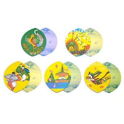 散華(散花)五種柄色刷(100枚セット)