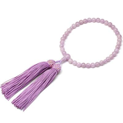 女性用数珠 紫雲石 正絹頭付房