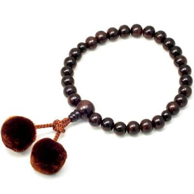 男性用数珠 縞黒檀 27玉