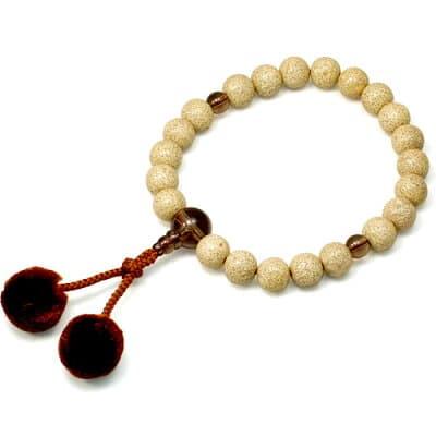 男性用数珠 星月菩提樹 茶水晶仕立 22玉