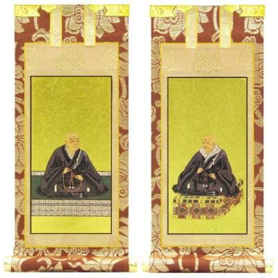 浄土真宗本願寺派の脇掛 親鸞聖人・蓮如上人 10号 高さ20cm