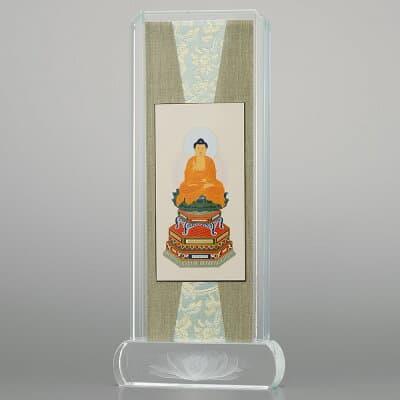 クリスタル掛軸 釈迦如来(曹洞宗・臨済宗) 小 高さ20.6cm