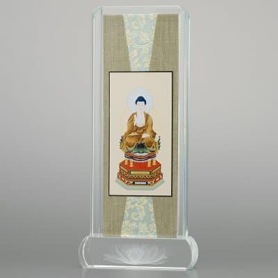 クリスタル掛軸 座阿弥陀如来(天台宗) 小 高さ20.6cm