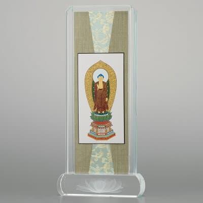 クリスタル掛軸 舟阿弥陀如来(浄土宗) 小 高さ20.6cm