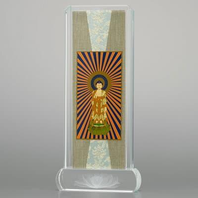 クリスタル掛軸 西阿弥陀如来(浄土真宗本願寺派) 小 高さ20.6cm