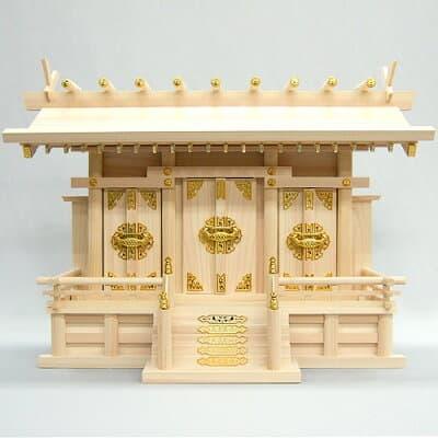 神棚・通し屋根三社(中) 高さ44cm×巾61cm