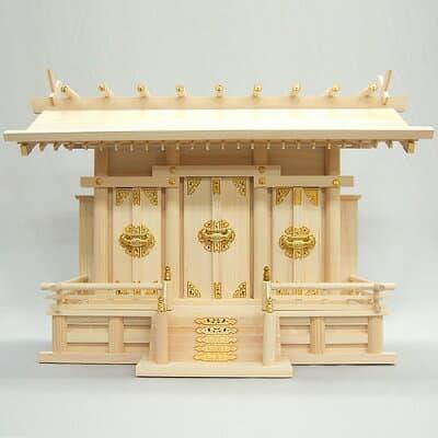 神棚・通し屋根三社(大) 高さ50cm×巾70cm