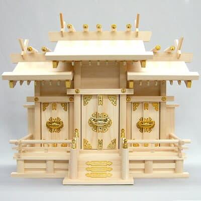 神棚・屋根違い三社(小) 高さ44cm×巾54cm