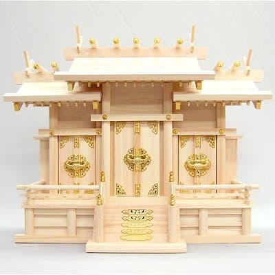 神棚・屋根違い三社(中) 高さ49cm×巾63cm