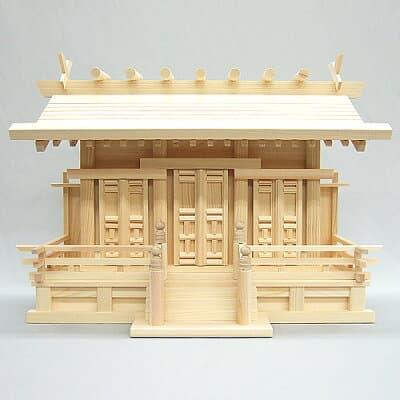 神棚・唐戸通し屋根三社(小) 高さ39cm×巾53cm