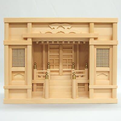 神棚・箱型高欄宮 1.5尺 高さ30cm×巾42.5cm