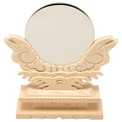 神鏡(台付) 3寸 鏡径9cm