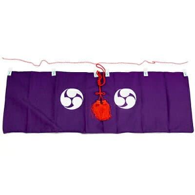 神棚幕(神前幕)(巴紋) 2尺 巾65cm