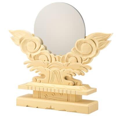 神鏡(上彫り台付) 3.5寸 鏡径10.5cm