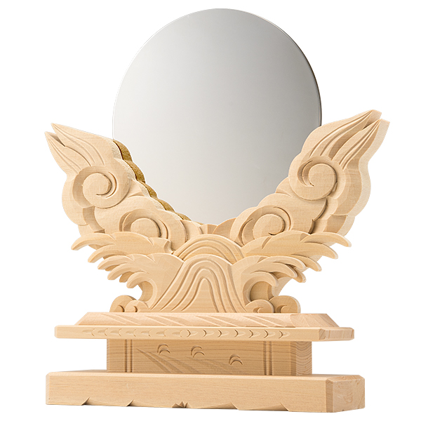 神鏡(上彫り台付) 5寸〜1尺