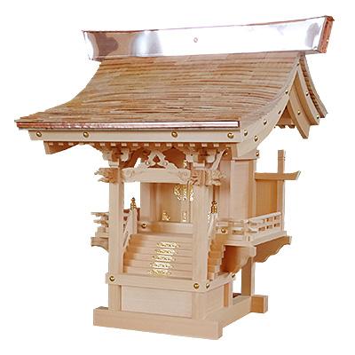 外宮 ひのき流れ屋根造り こけら葺き(木印) 1.2尺