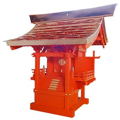 外宮 朱塗り ひのき流れ屋根造り(木印) 8寸