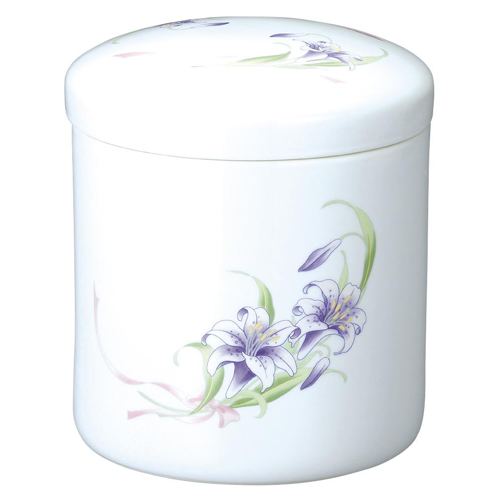 骨壷(骨壺) 紫花 7寸