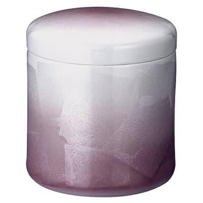 骨壷(骨壺) 九谷焼 銀彩 ピンク