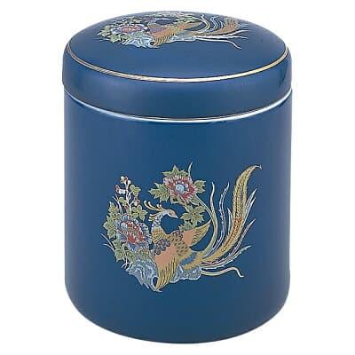 骨壷(骨壺) 瑠璃牡丹鳳凰