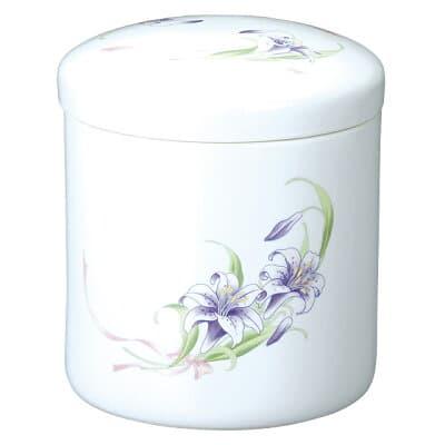 骨壷(骨壺) 紫花