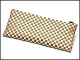 数珠袋(念珠入れ) 市松模様 茶色 ファスナー式
