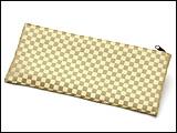 数珠袋(念珠入れ) 市松模様 柳色 ファスナー式