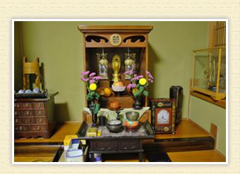 手作りの仏壇