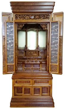 欅仏壇 「玉杢」 57×22号 b17-004