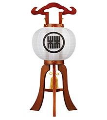 家紋入ミニ盆提灯8号1203-1
