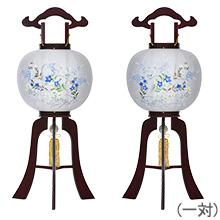 対柄回転盆提灯11号(一対)1484-M