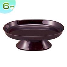 小判型供物台(お盆用お供え皿)タメ塗り 6寸(一個)