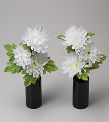 ミニルミナス白菊の舞(一対)