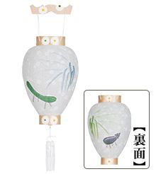 新盆用白提灯絵柄入り(牛・馬)3306
