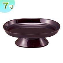 小判型供物台(お盆用お供え皿)タメ塗り 7寸(一個)