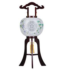 家紋入小型盆提灯10号1476-3