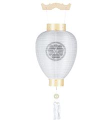 家紋入白木盆提灯3129-8
