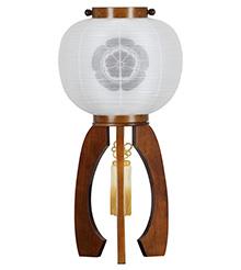 家紋入盆提灯 つづみ9926-T