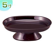 小判型供物台(お盆用お供え皿)タメ塗り 5寸(一個)
