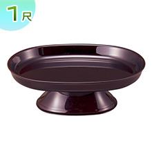 小判型供物台(お盆用お供え皿)タメ塗り 1尺(一個)