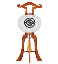 家紋入小型盆提灯9号1213-1