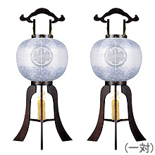 家紋入盆提灯11号一対セット(2個)1584-5-2