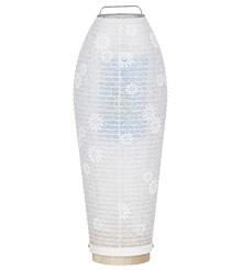 新盆用白提灯 灯影ほかげ紋天回転コードレス(置き提灯)3904-0