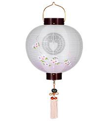 家紋入門提灯 尺三丸枝垂れ桜9853-3